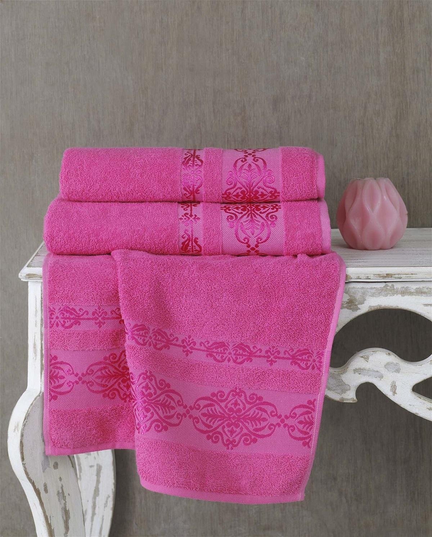 Полотенца Karna Полотенце Rebeka Цвет: Розовый (70х140 см) полотенца karna полотенце iteka цвет коричневый 70х140 см