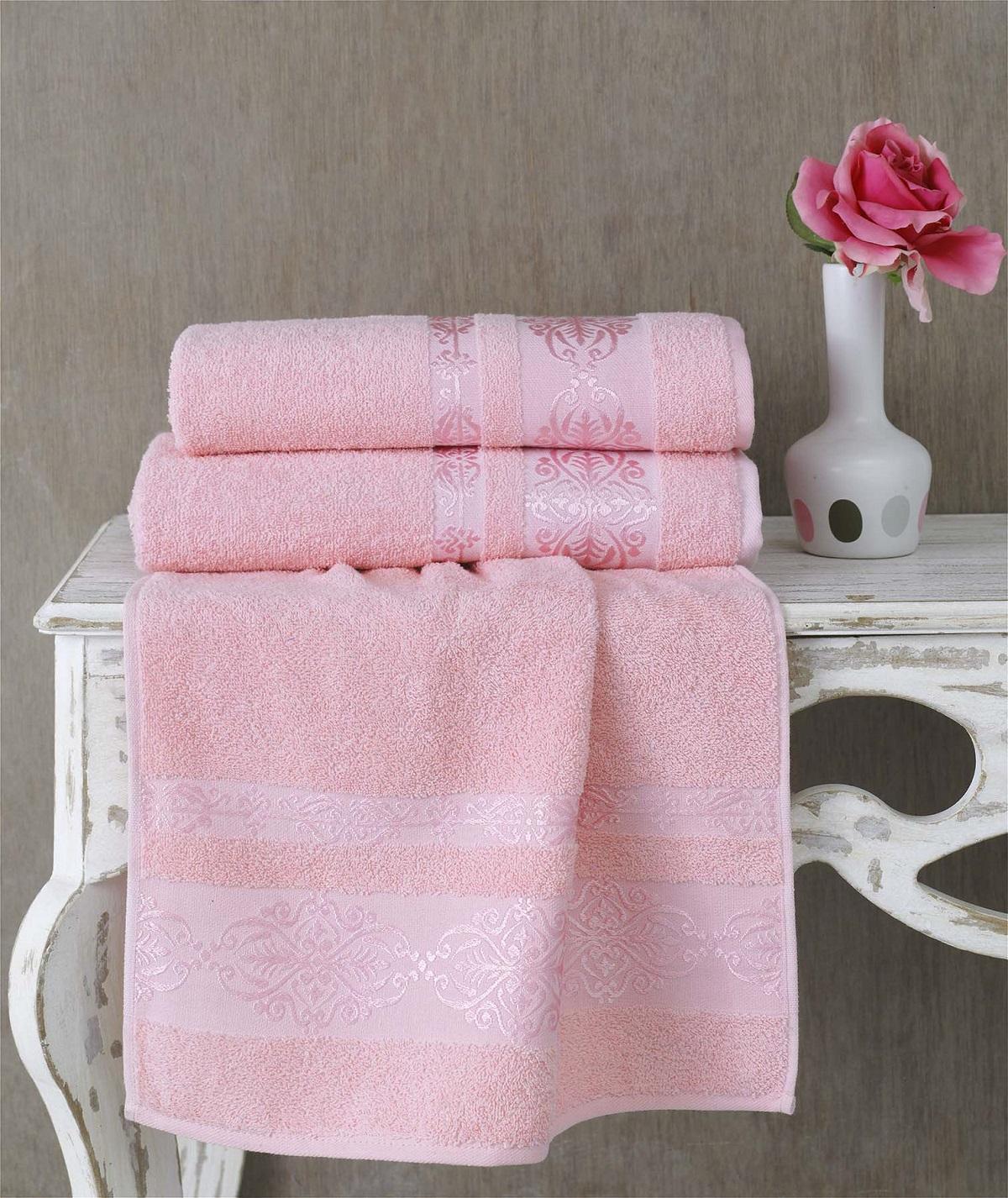 Полотенца Karna Полотенце Rebeka Цвет: Светло-Розовый (70х140 см) karna karna полотенце innes цвет красный 70х140 см
