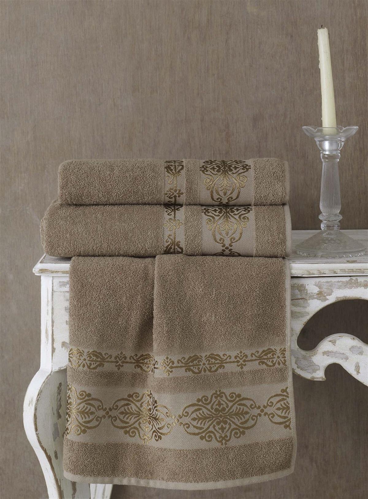 Полотенца Karna Полотенце Rebeka Цвет: Кофейный (70х140 см) karna karna полотенце innes цвет красный 70х140 см