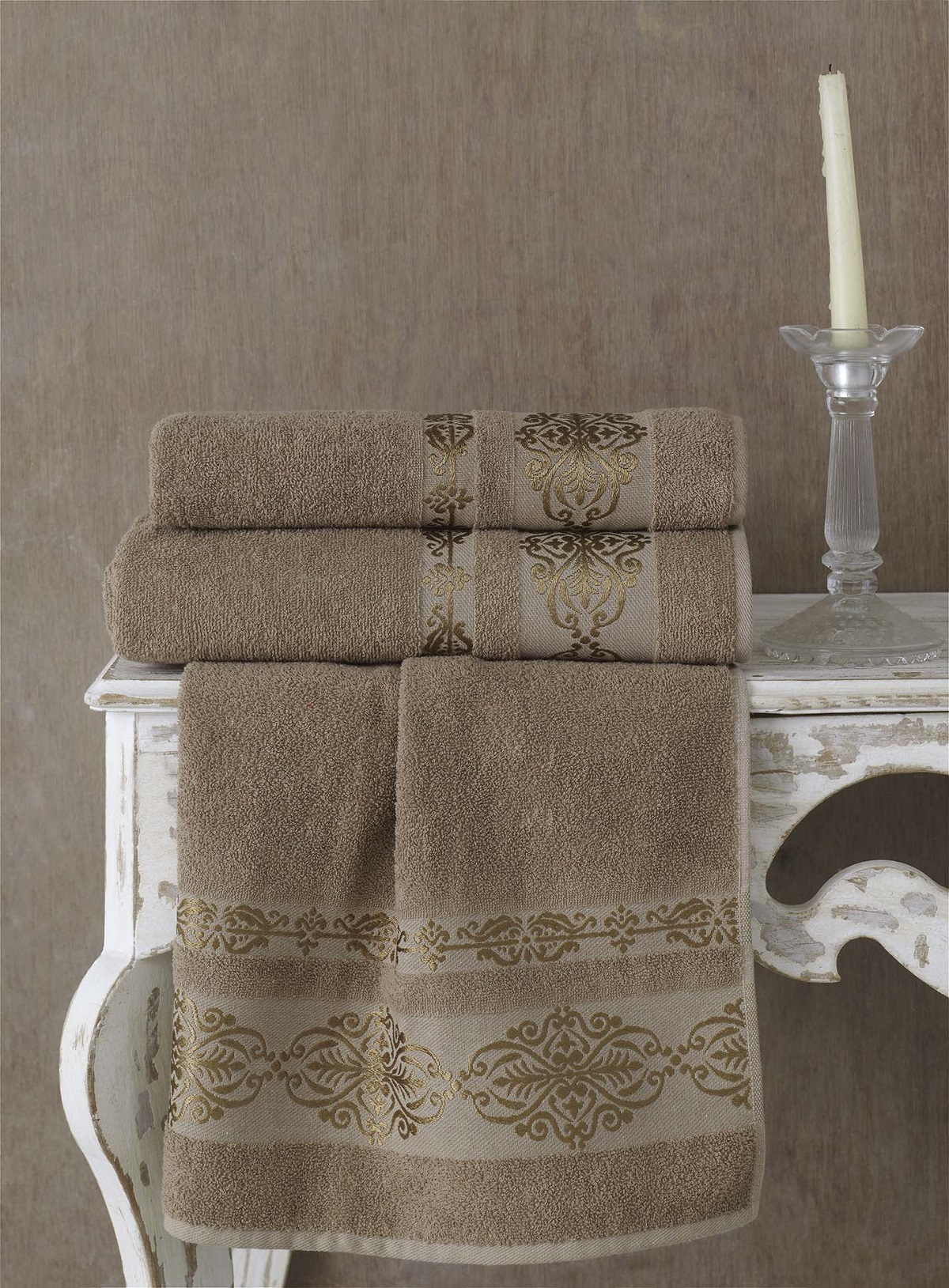 Полотенца Karna Полотенце Rebeka Цвет: Кофейный (70х140 см) полотенца karna полотенце iteka цвет коричневый 70х140 см