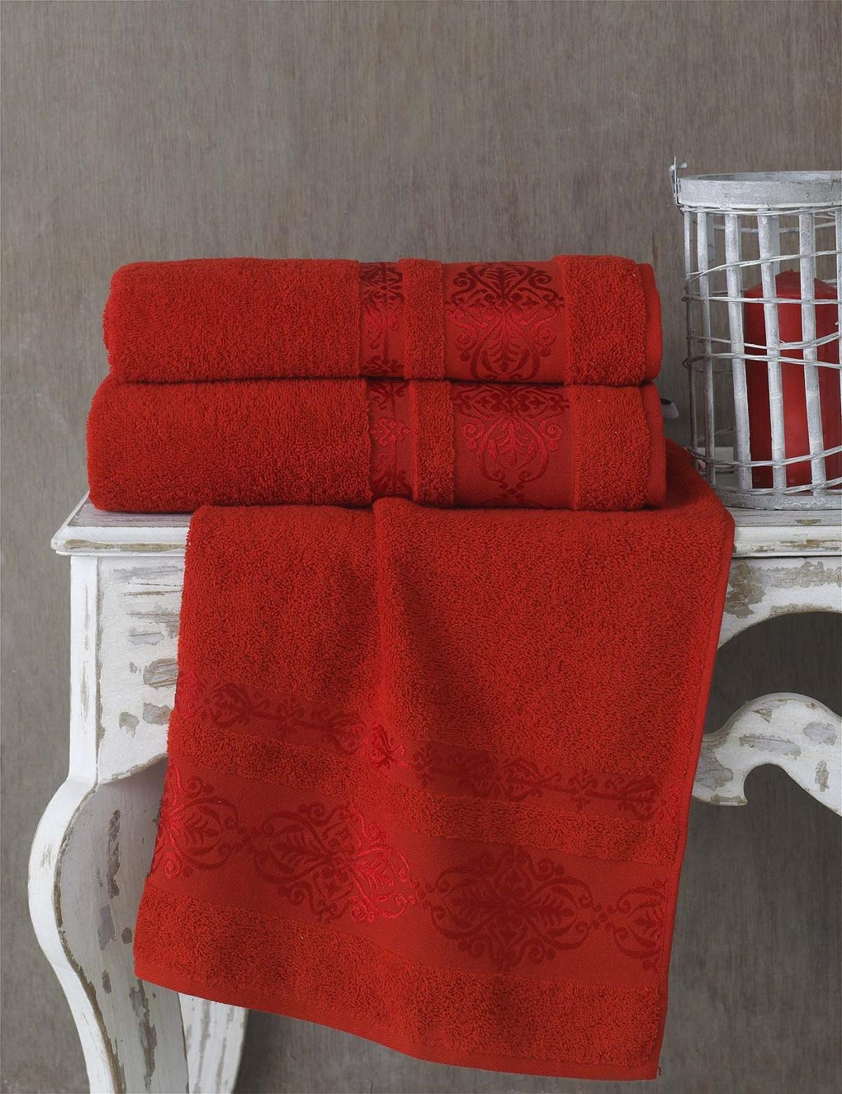 Полотенца Karna Полотенце Rebeka Цвет: Красный (70х140 см) karna karna полотенце innes цвет красный 70х140 см