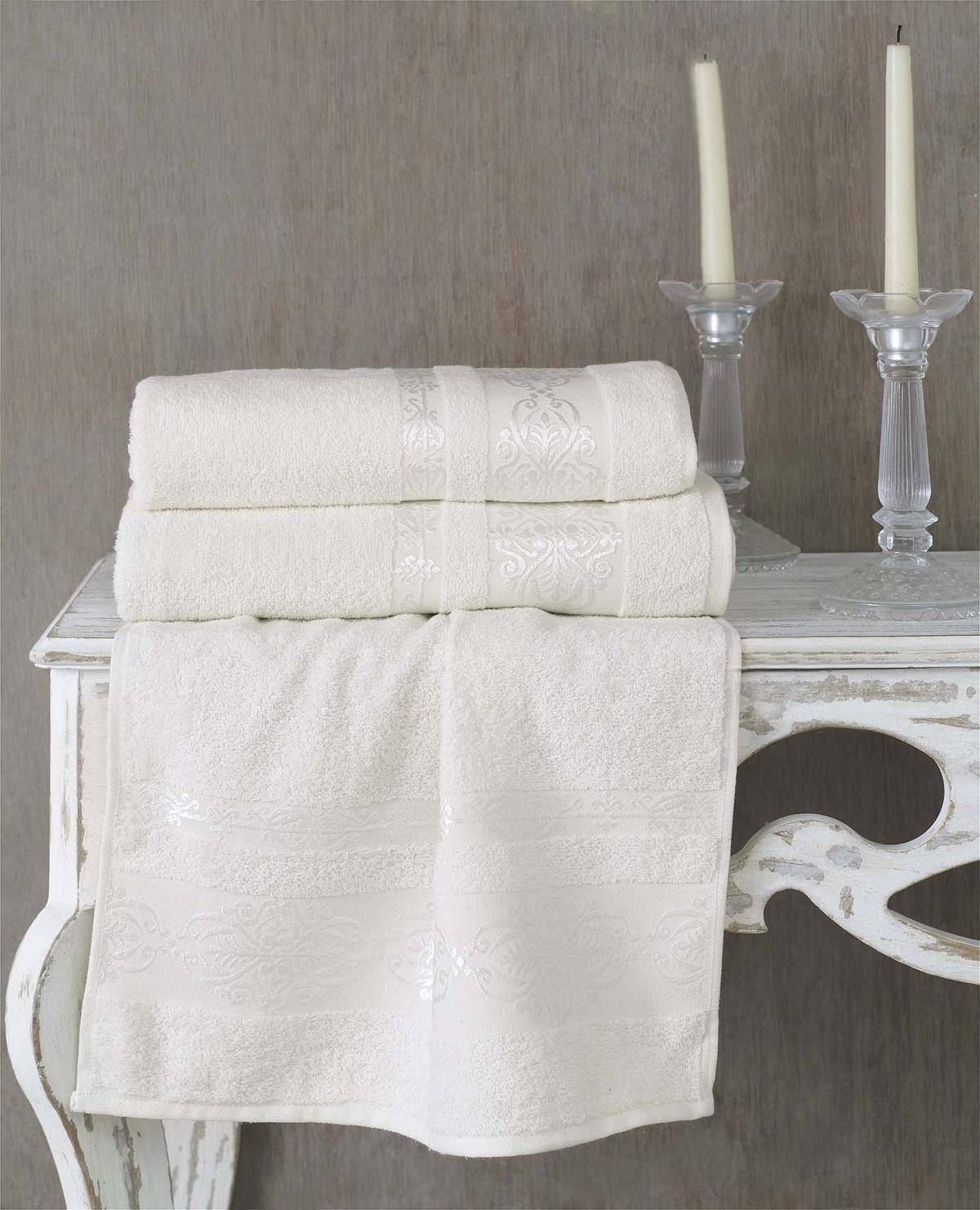 Полотенца Karna Полотенце Rebeka Цвет: Кремовый (70х140 см) полотенца karna полотенце iteka цвет коричневый 70х140 см