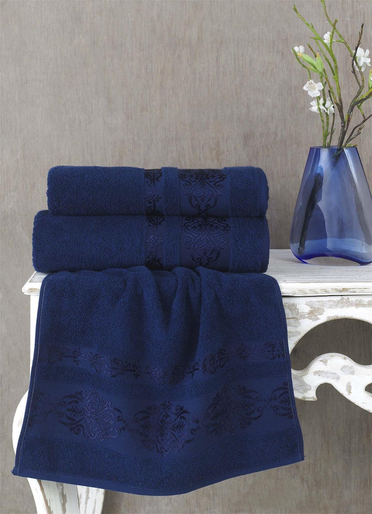 Полотенца Karna Полотенце Rebeka Цвет: Синий (70х140 см) полотенца karna полотенце iteka цвет коричневый 70х140 см