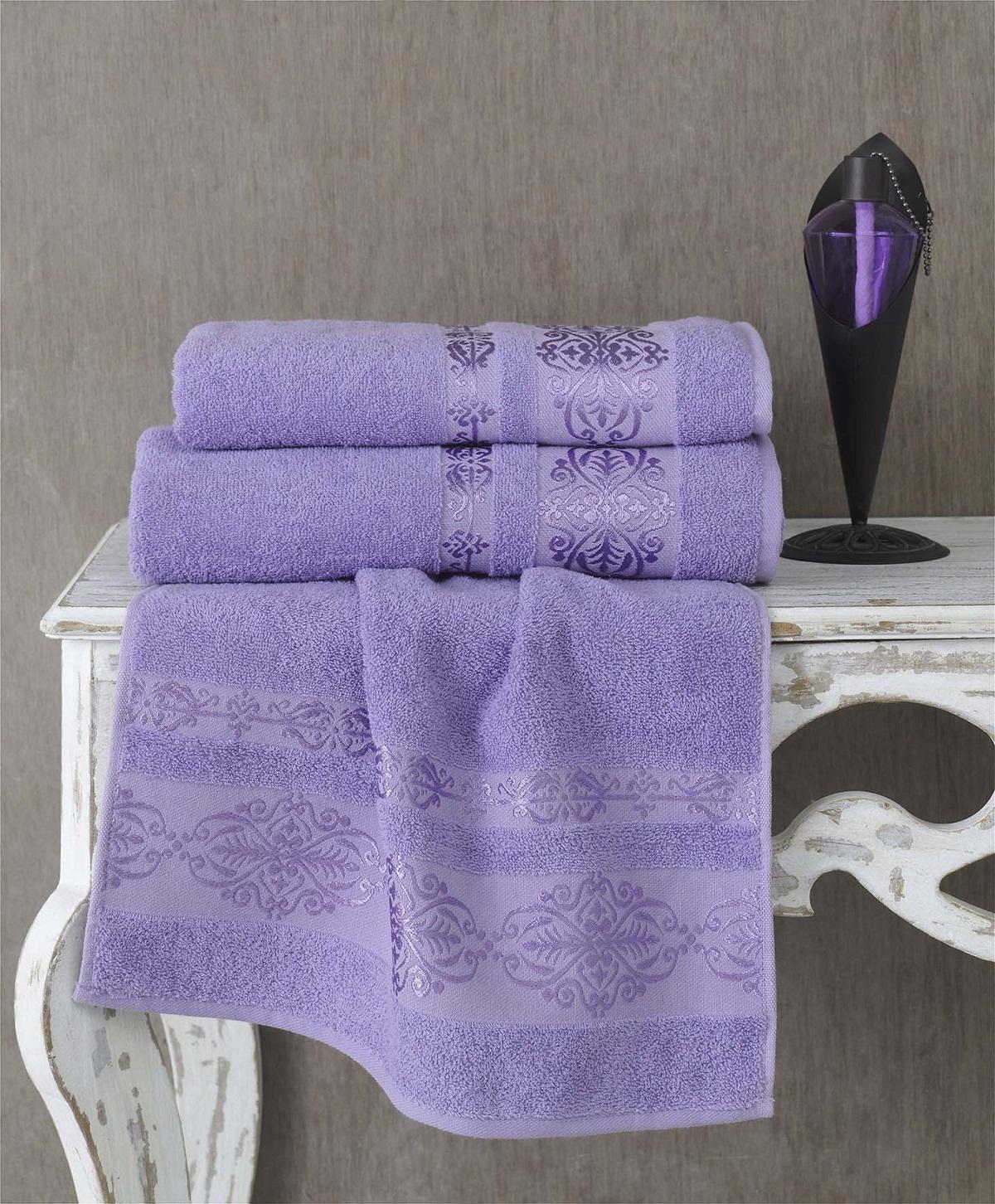 Полотенца Karna Полотенце Rebeka Цвет: Сиреневый (70х140 см) полотенца karna полотенце iteka цвет коричневый 70х140 см