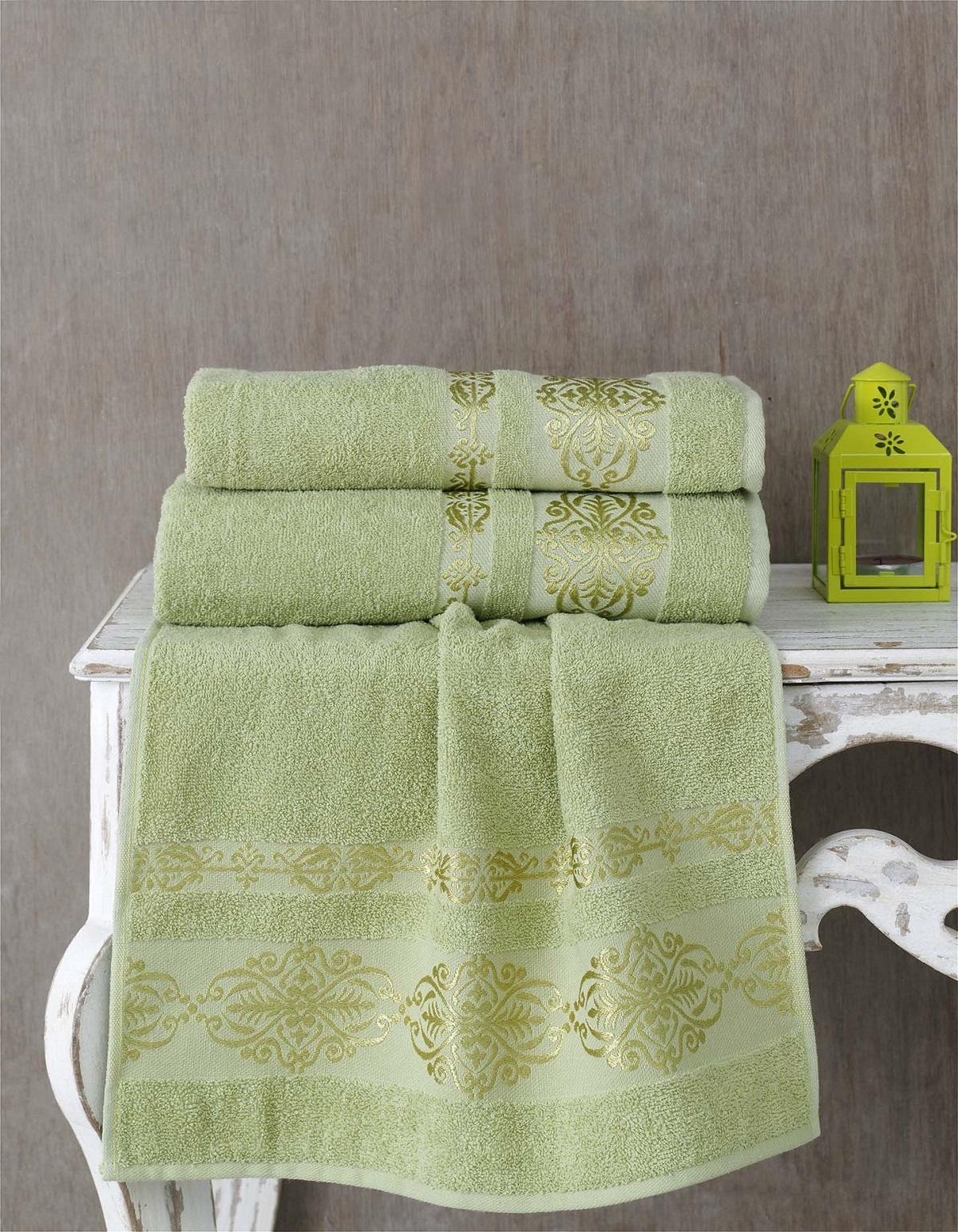 Полотенца Karna Полотенце Rebeka Цвет: Темно-Зеленый (70х140 см) karna karna полотенце innes цвет красный 70х140 см