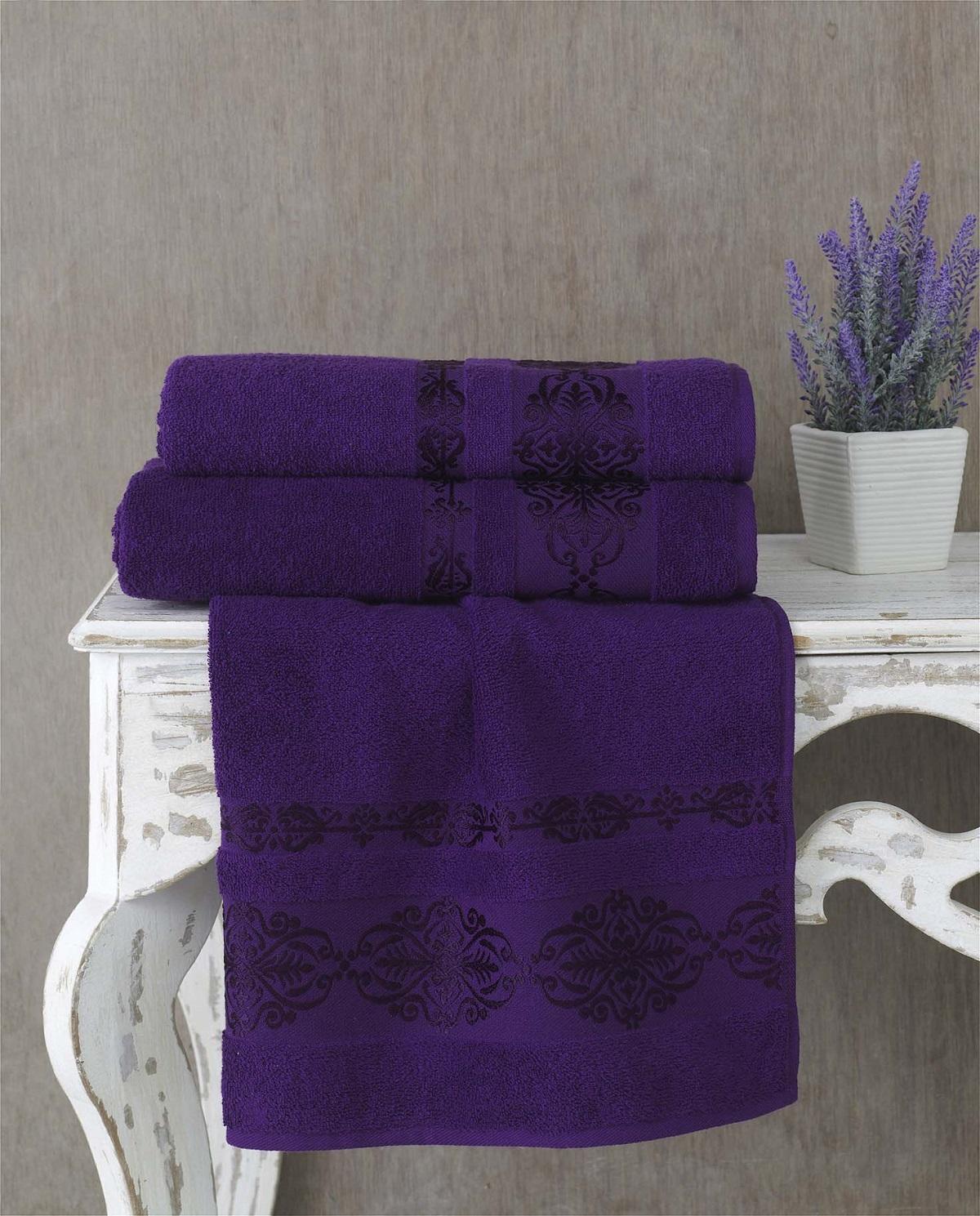 Полотенца Karna Полотенце Rebeka Цвет: Фиолетовый (70х140 см) полотенца karna полотенце iteka цвет коричневый 70х140 см