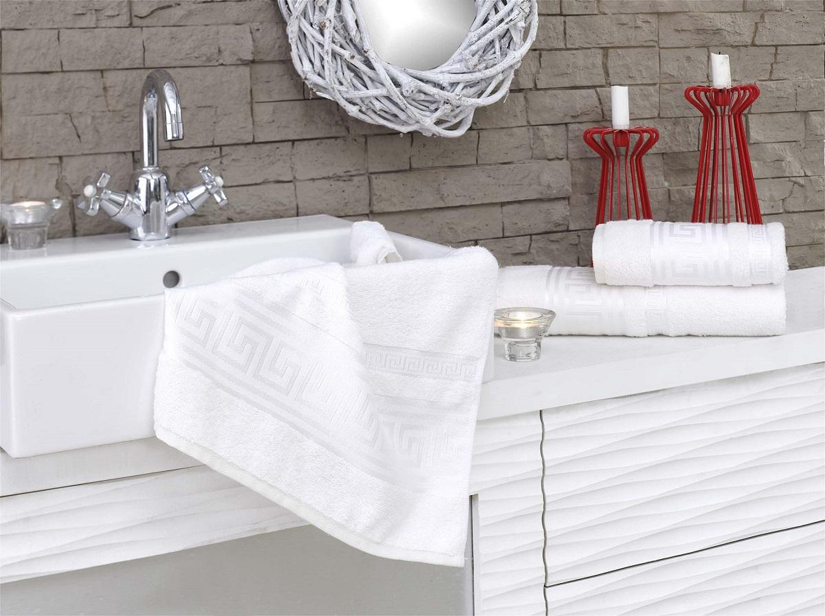 Полотенца Karna Полотенце Grek Цвет: Кремовый (70х140 см) karna karna полотенце innes цвет красный 70х140 см
