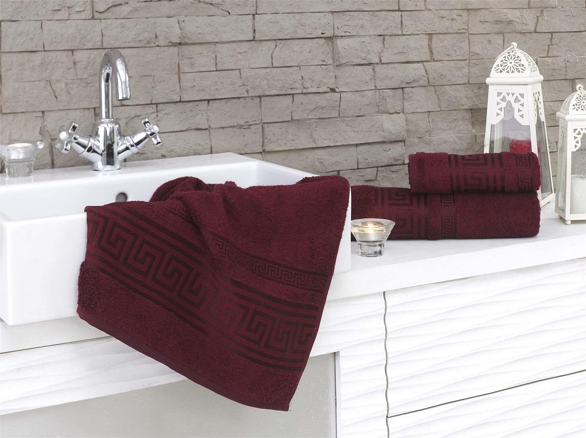 Полотенца Karna Полотенце Grek Цвет: Бордовый (70х140 см) полотенца karna полотенце iteka цвет коричневый 70х140 см