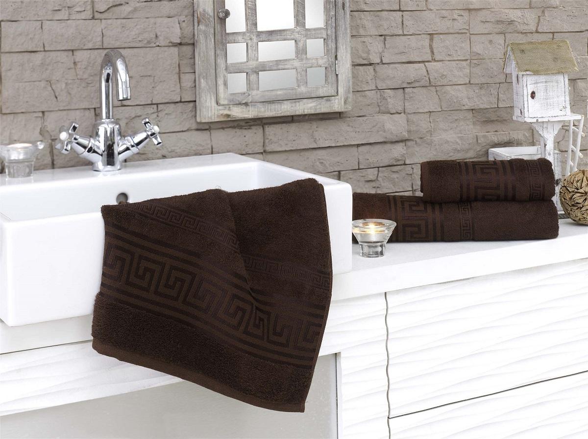 Полотенца Karna Полотенце Grek Цвет: Коричневый (70х140 см) karna karna полотенце innes цвет красный 70х140 см