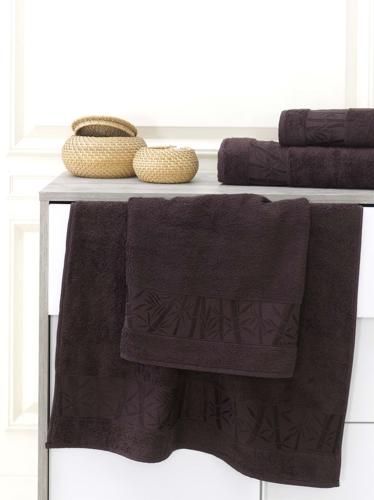 Полотенца Karna Полотенце Pamira Цвет: Темно-Коричневый (70х140 см) полотенца karna полотенце iteka цвет коричневый 70х140 см