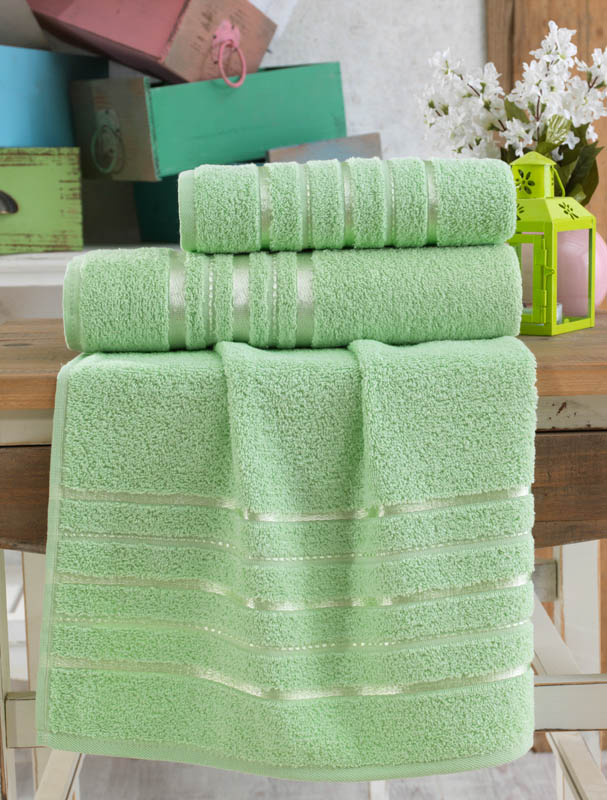 Полотенца Karna Полотенце Jasmin Цвет: Зеленый (70х140 см) karna karna полотенце innes цвет красный 70х140 см