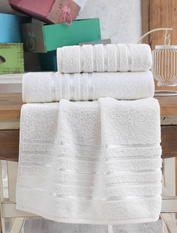 Полотенца Karna Полотенце Jasmin Цвет: Кремовый (70х140 см) полотенца karna полотенце iteka цвет коричневый 70х140 см