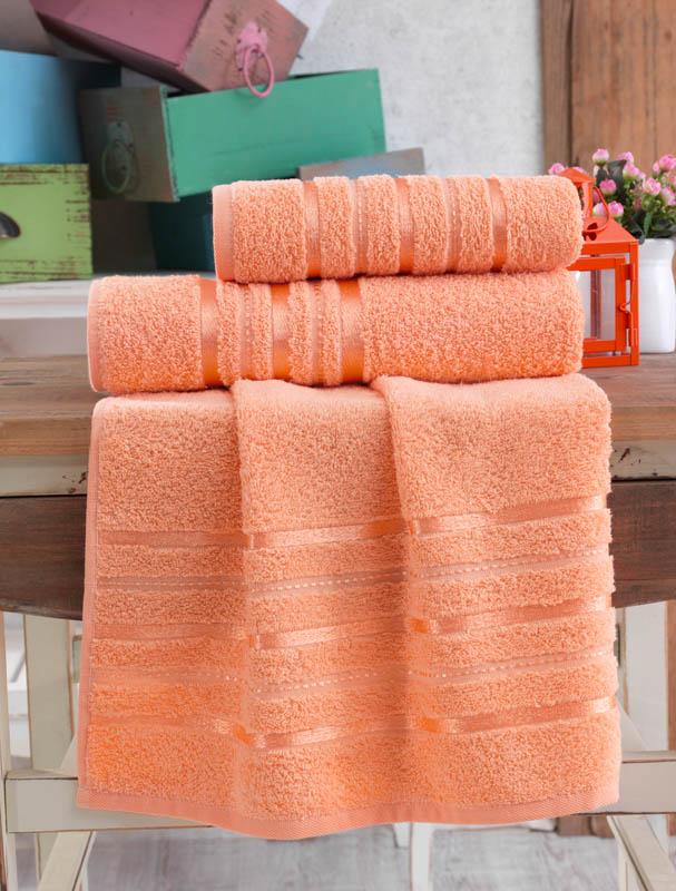 Полотенца Karna Полотенце Jasmin Цвет: Абрикосовый (70х140 см) karna karna полотенце innes цвет красный 70х140 см