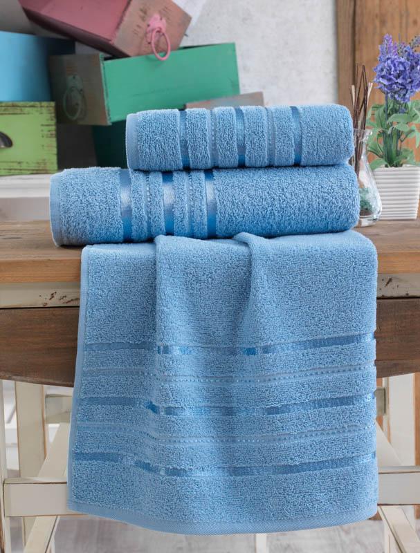 Полотенца Karna Полотенце Jasmin Цвет: Голубой (70х140 см) полотенца karna полотенце iteka цвет коричневый 70х140 см