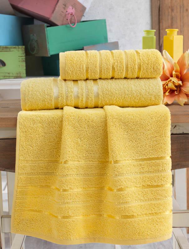 Полотенца Karna Полотенце Jasmin Цвет: Желтый (70х140 см) полотенца karna полотенце iteka цвет коричневый 70х140 см