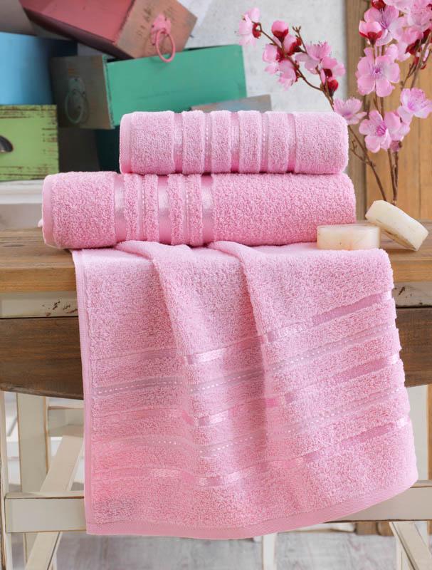 Полотенца Karna Полотенце Jasmin Цвет: Розовый (70х140 см) полотенца karna полотенце iteka цвет коричневый 70х140 см