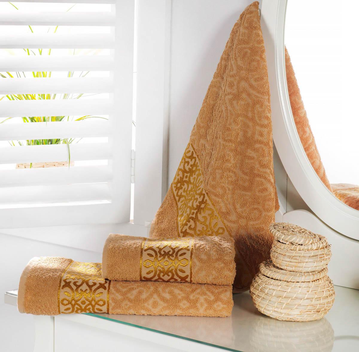 Полотенца Karna Полотенце Sahra Цвет: Бежевый (70х140 см) полотенца karna полотенце iteka цвет коричневый 70х140 см