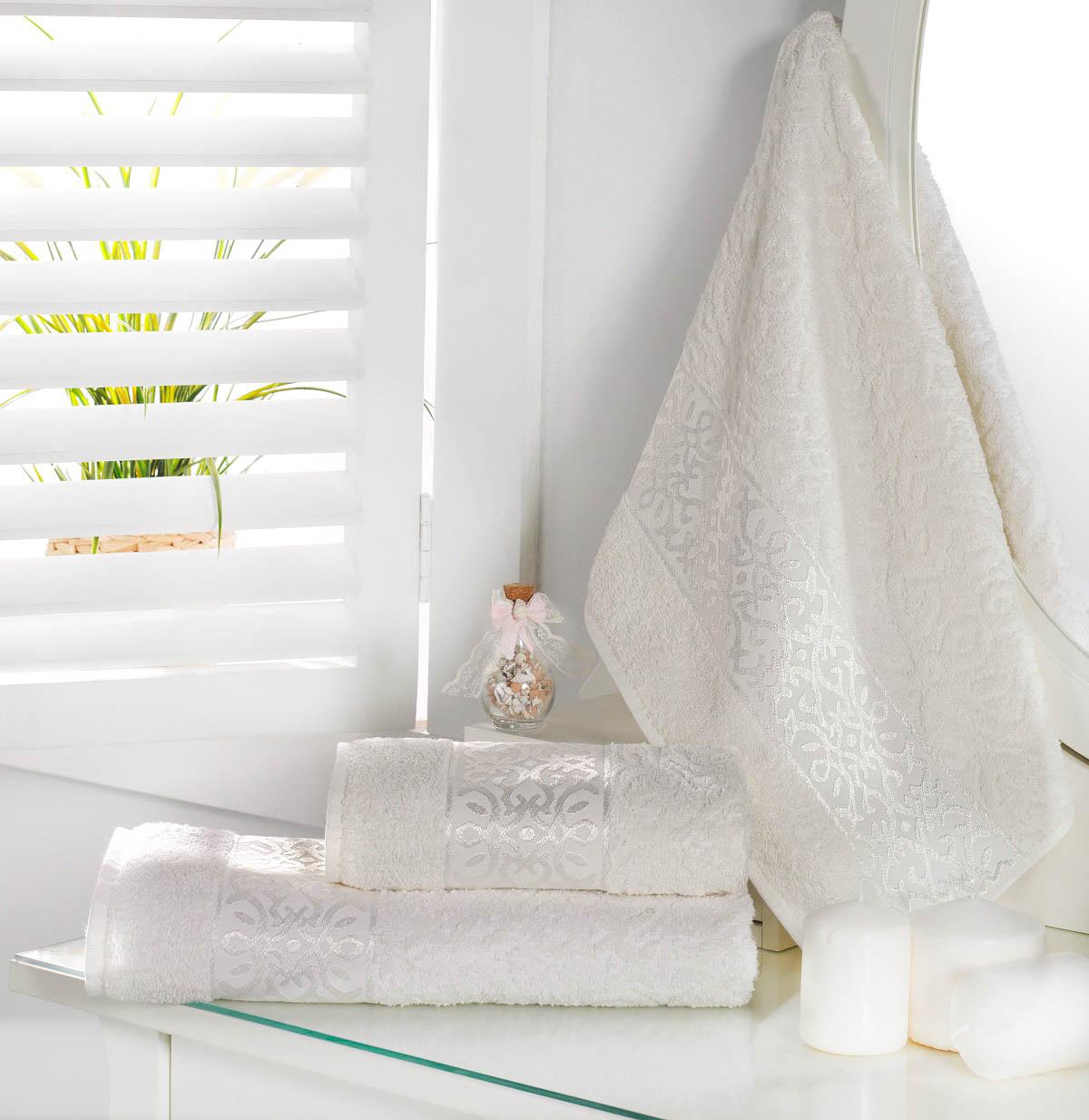Полотенца Karna Полотенце Sahra Цвет: Кремовый (70х140 см) полотенца karna полотенце iteka цвет коричневый 70х140 см