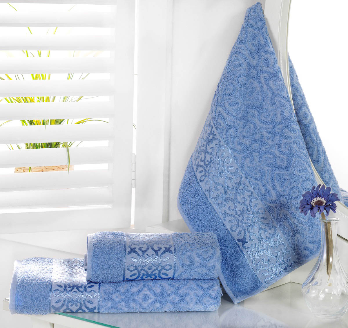 Полотенца Karna Полотенце Sahra Цвет: Голубой (70х140 см) karna karna полотенце innes цвет красный 70х140 см