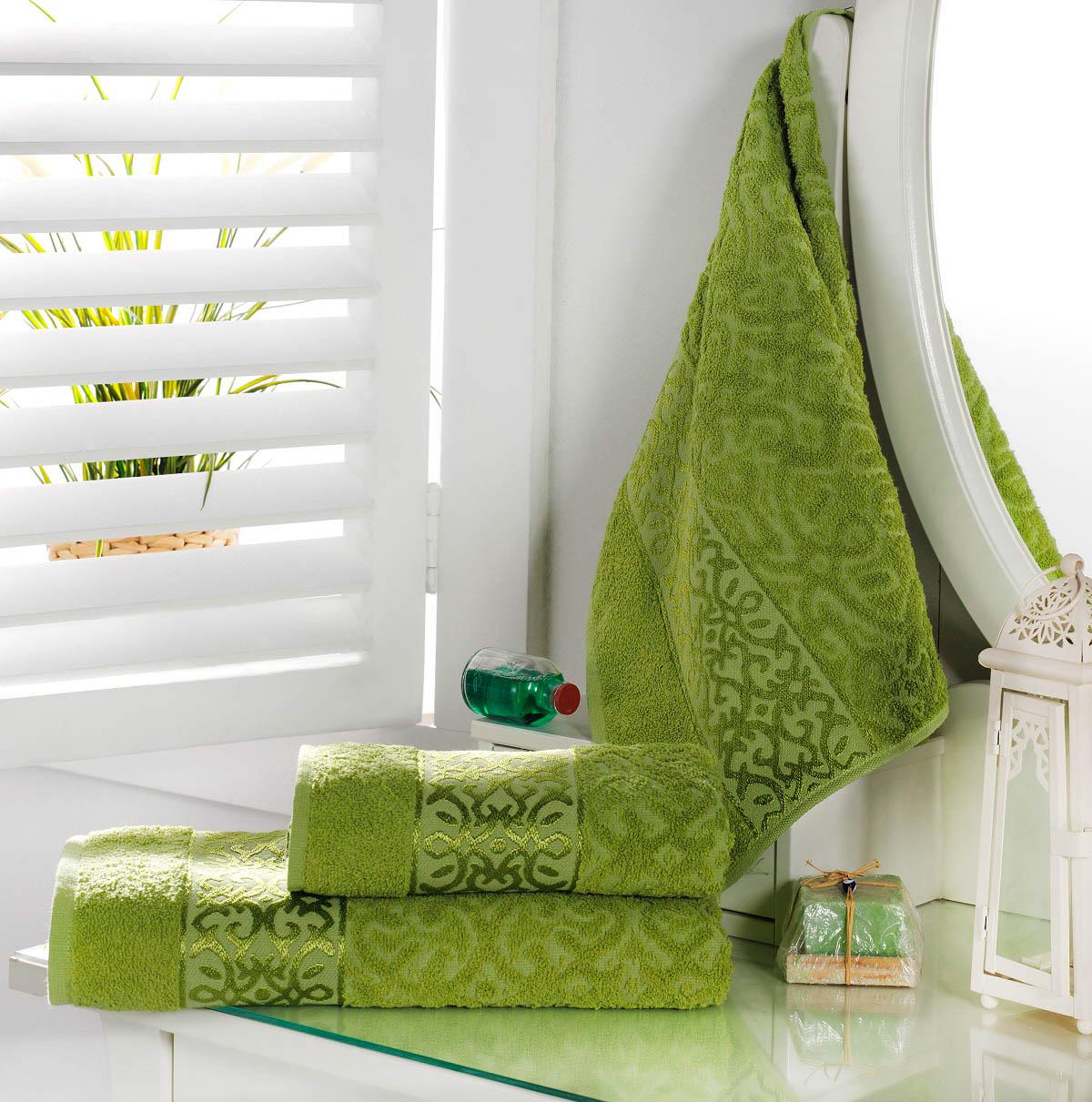 Полотенца Karna Полотенце Sahra Цвет: Зеленый (70х140 см) karna karna полотенце innes цвет красный 70х140 см