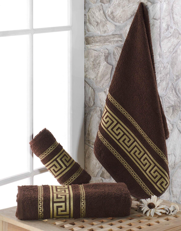 Полотенца Karna Полотенце Iteka Цвет: Коричневый (70х140 см) karna karna полотенце innes цвет красный 70х140 см