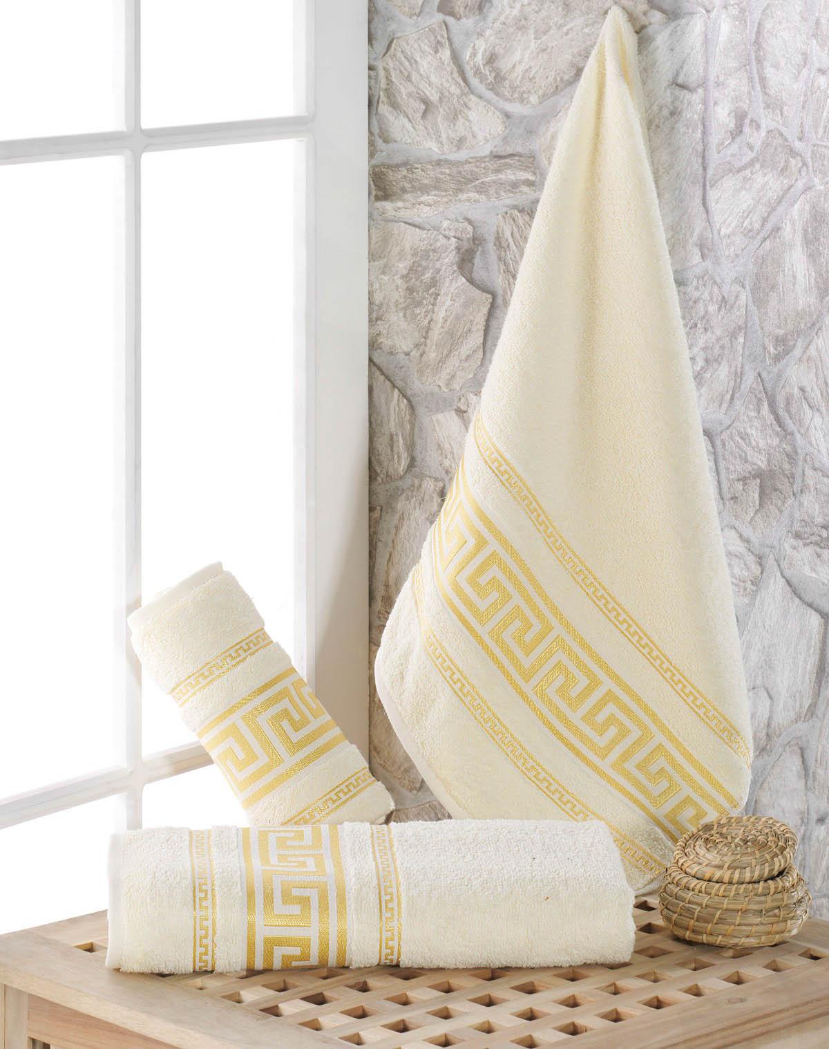 Полотенца Karna Полотенце Iteka Цвет: Кремовый (70х140 см) полотенца karna полотенце iteka цвет коричневый 70х140 см