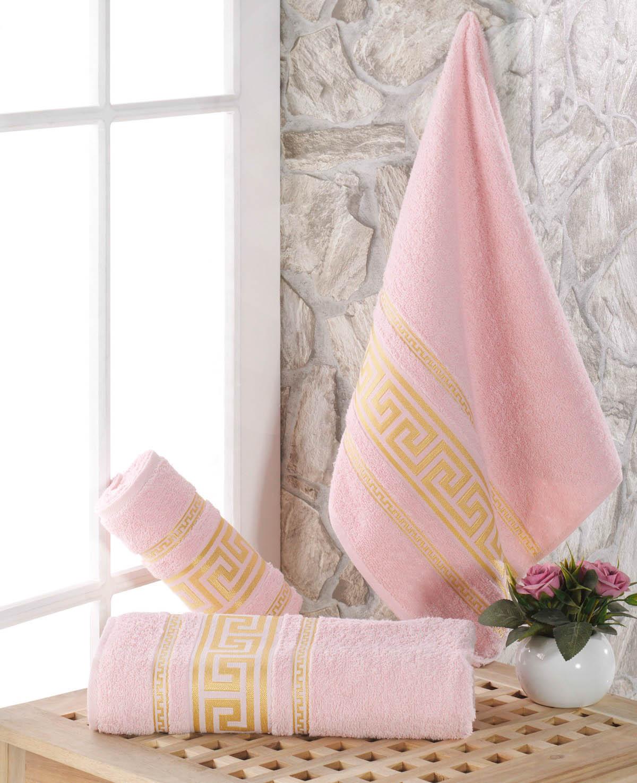 Полотенца Karna Полотенце Iteka Цвет: Светло-Розовый (70х140 см) полотенце махровое karna с жаккардом iteka 70x140 см 1 1
