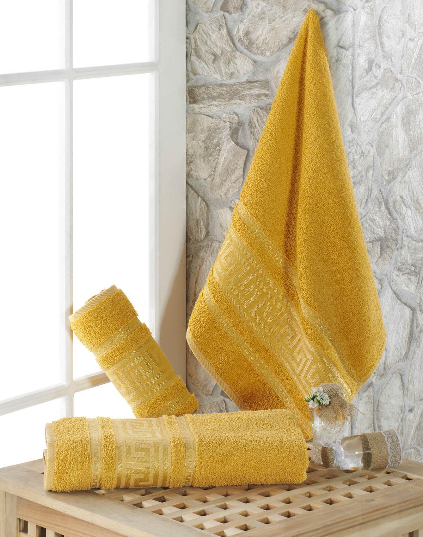 Полотенца Karna Полотенце Iteka Цвет: Горчичный (50х90 см) every набор чехлов для дивана every цвет горчичный