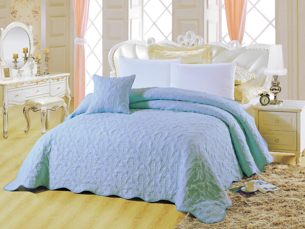 где купить Покрывало Cleo Покрывало Андора Цвет: Голубой (220х240 см) по лучшей цене