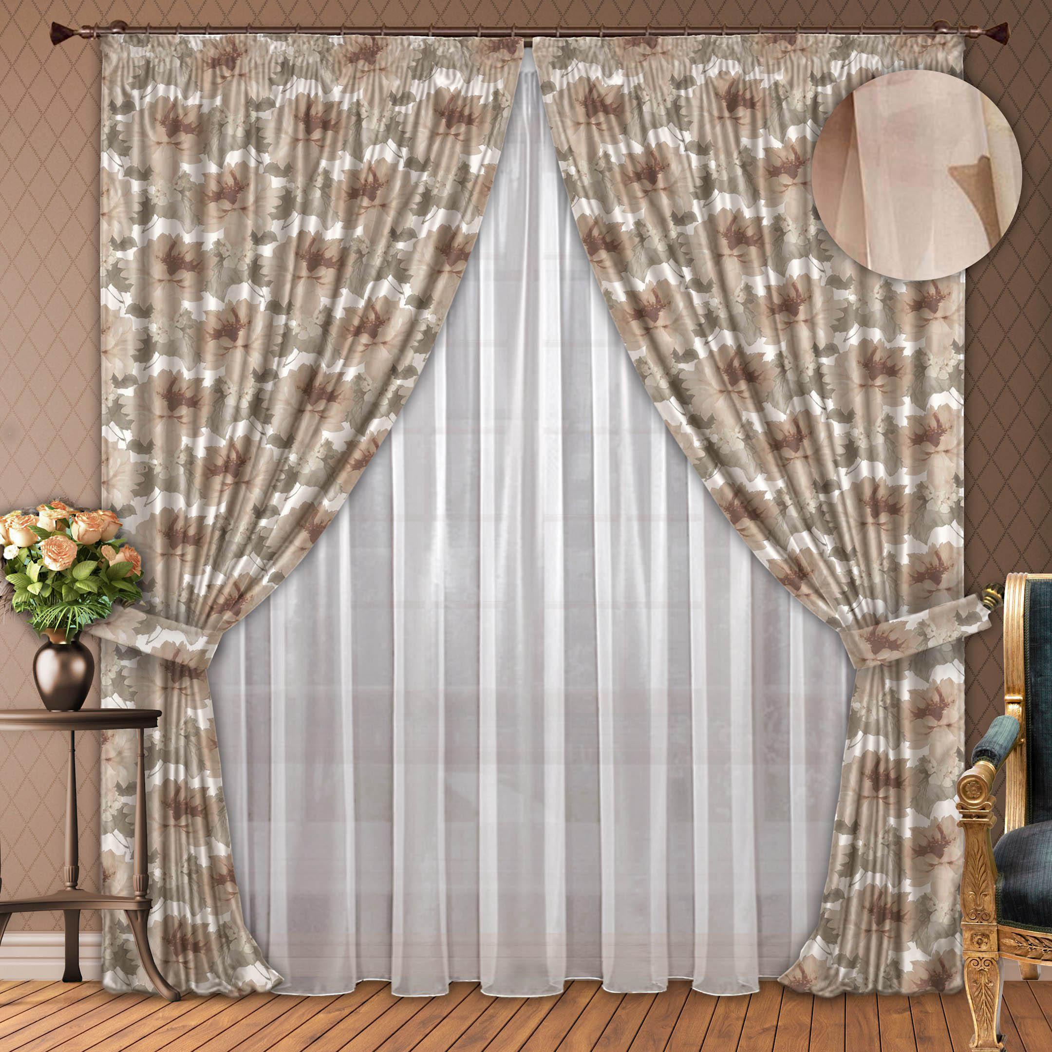 Шторы РеалТекс Классические шторы Elfrieda Цвет: Бежевый шторы primavera классические шторы maev цвет персиковый