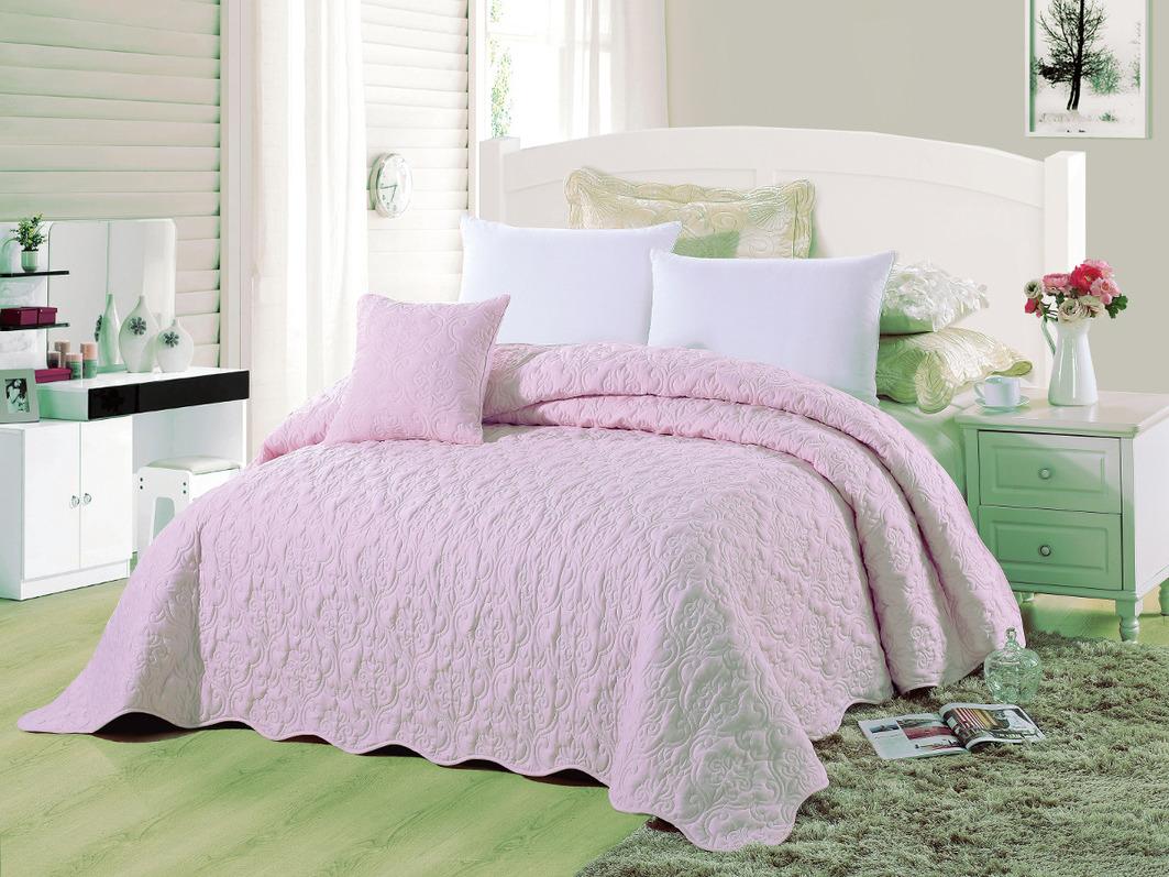 где купить Покрывало Cleo Покрывало Андора Цвет: Розовый (240х260 см) по лучшей цене