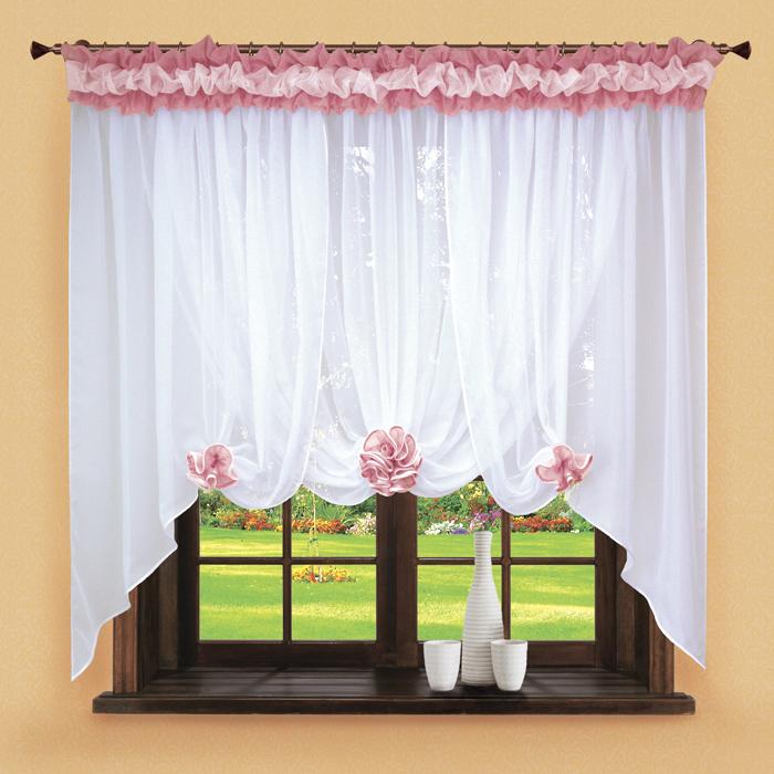 Шторы РеалТекс Классические шторы Neville Цвет: Брусника шторы реалтекс классические шторы alberta цвет персиковый молочный