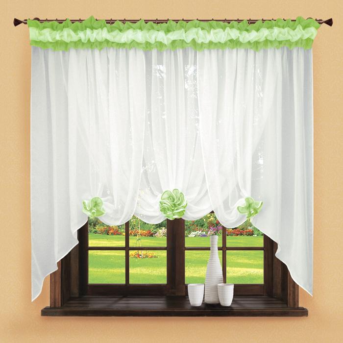 Шторы РеалТекс Классические шторы Neville Цвет: Зеленое Яблоко шторы реалтекс классические шторы alberta цвет персиковый молочный