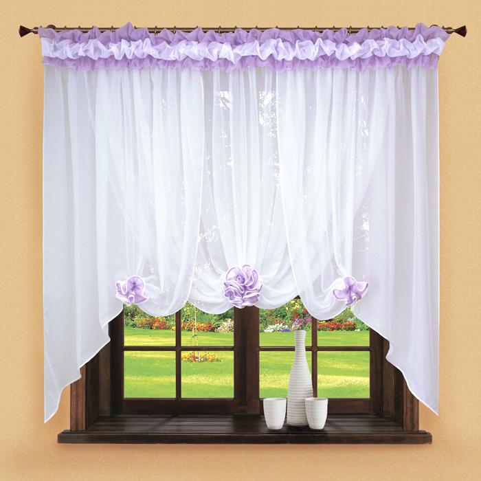 Шторы РеалТекс Классические шторы Neville Цвет: Сиреневый шторы реалтекс классические шторы alberta цвет персиковый молочный