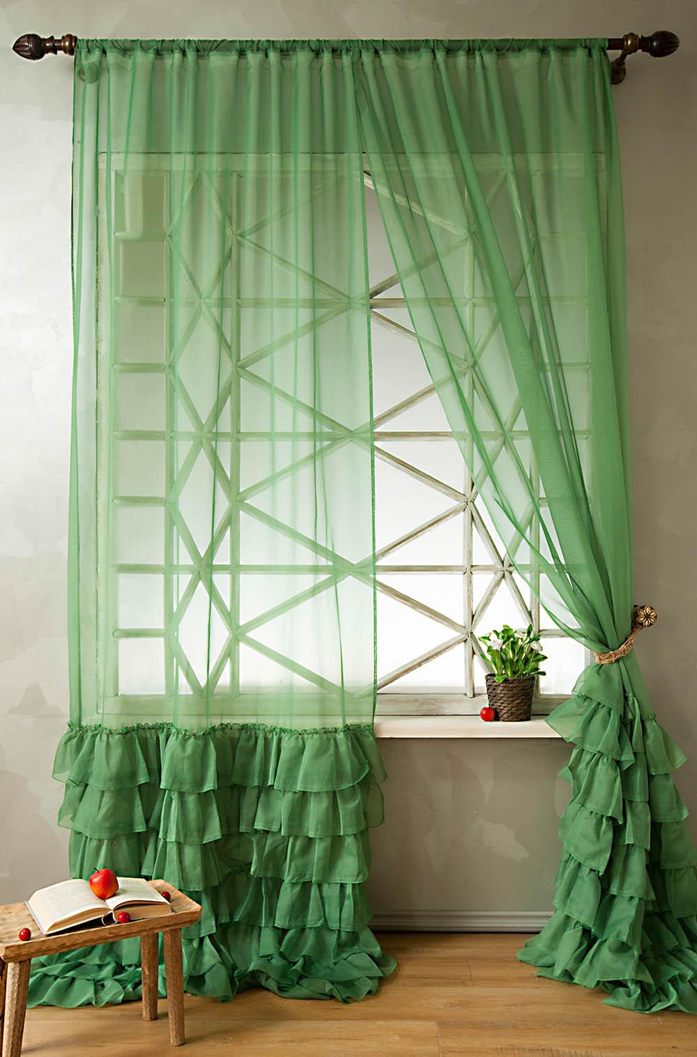Шторы PASIONARIA Классические шторы Ноа Цвет: Зеленый pasionaria pasionaria классические шторы оксфорд цвет зеленый