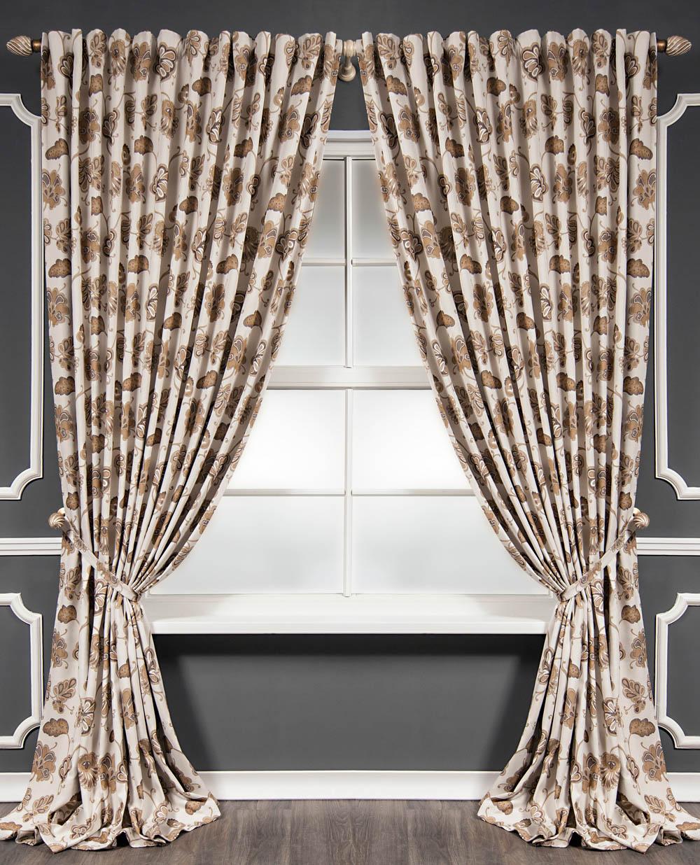 Шторы PASIONARIA Классические шторы Стоун Цвет: Бежевый шторы tac классические шторы winx цвет персиковый 200x265 см