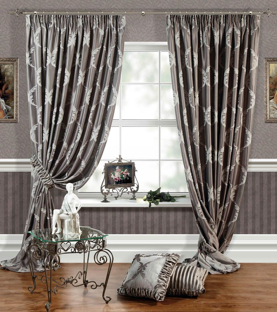 Шторы PASIONARIA Классические шторы Лувр Цвет: Серый pasionaria pasionaria классические шторы оксфорд цвет зеленый