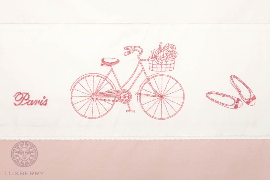 Постельное белье BOVI Постельное белье Paris Цвет: Розовый/Экрю  (1,5 спал.) постельное белье amour paris киев