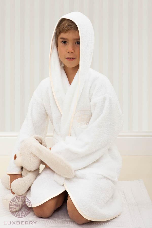 Детские халаты Luxberry Детский халат Queen Цвет: Белый/Бежевый (5-6 лет) халаты домашние лори халат