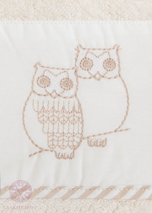 Детские халаты Luxberry Детский халат Совята Цвет: Жемчужный/Коричневый/Белый  (3-4 года) халаты домашние лори халат