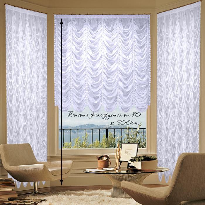 Шторы РеалТекс Французские шторы Innes Цвет: Белый шторы реалтекс классические шторы alexandria цвет венге молочный венге