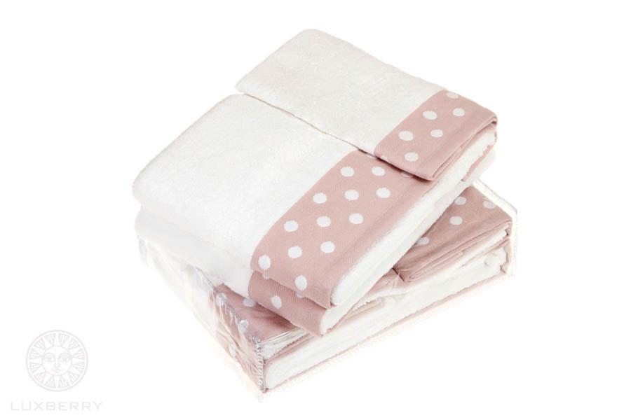 где купить Полотенца Luxberry Полотенце Pretty Dots Цвет: Белый/Розовый (50х100 см) по лучшей цене