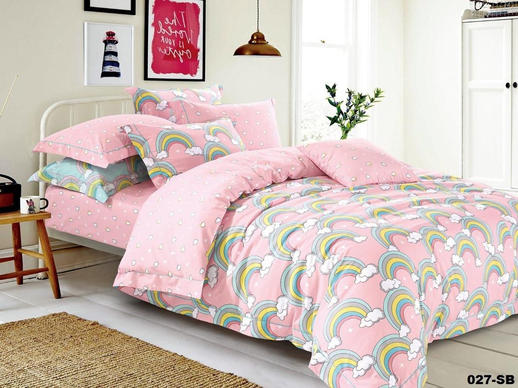Детское Постельное белье Cleo Детское Постельное белье Радуга Цвет: Розовый (112х147 см)