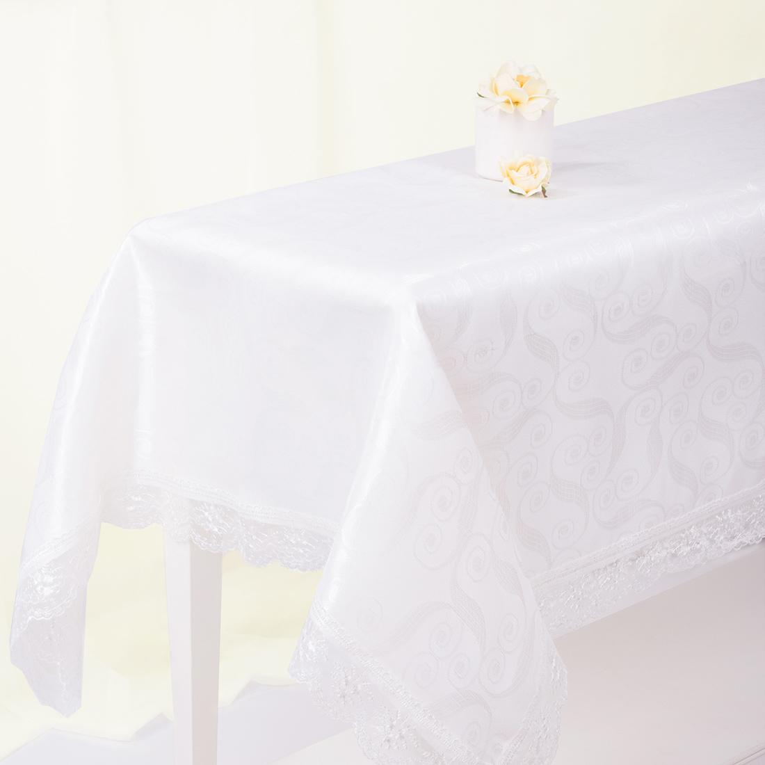 Скатерти и салфетки Eleganta Скатерть Ainslie Цвет: Молочный (160х220 см) скатерти и салфетки karna скатерть leda цвет бордовый круглая 160 см