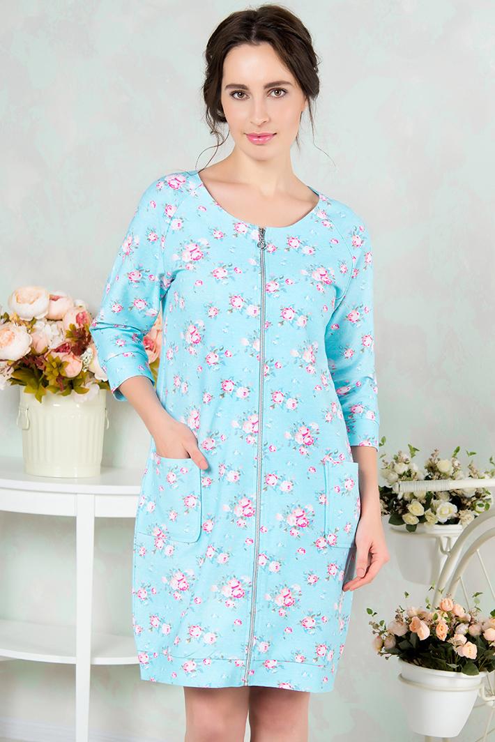 Домашние халаты Mia Cara Домашний халат Kaylee Цвет: Голубой (xxL) пижама женская футболка шорты mia cara portugal цвет розовый голубой aw16 mc 813 размер 50 52