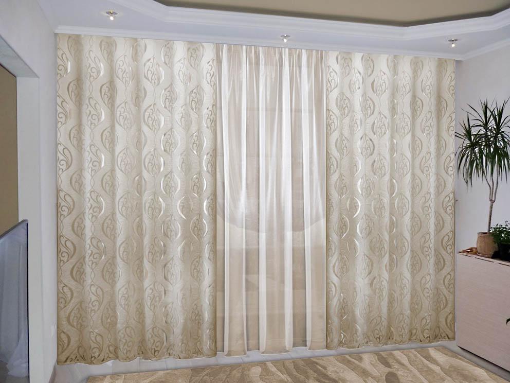 Шторы РеалТекс Классические шторы Lennon Цвет: Светло-Бежевый шторы реалтекс классические шторы alberta цвет персиковый молочный