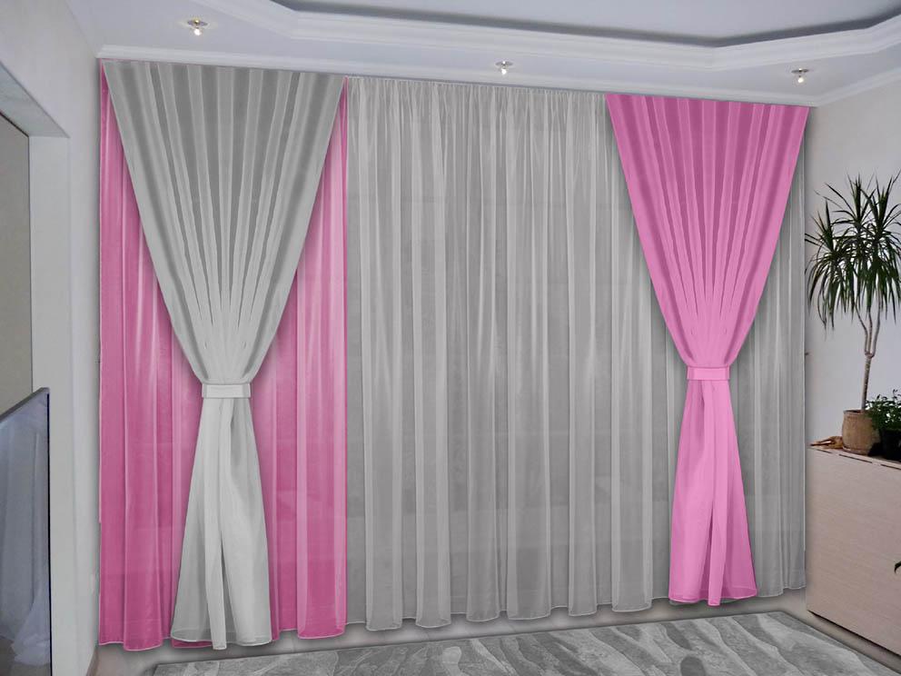 Шторы РеалТекс Классические шторы Deming Цвет: Розовый, Серый шторы реалтекс классические шторы alberta цвет персиковый молочный