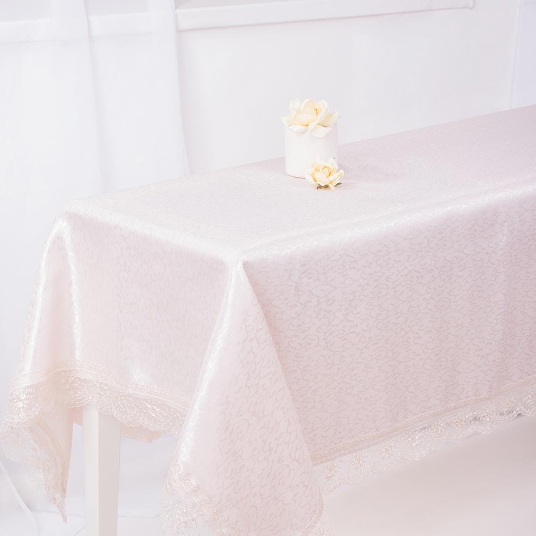 Скатерти и салфетки Eleganta Скатерть Paise Цвет: Бежевый (160х220 см) скатерти и салфетки karna скатерть leda цвет бордовый круглая 160 см