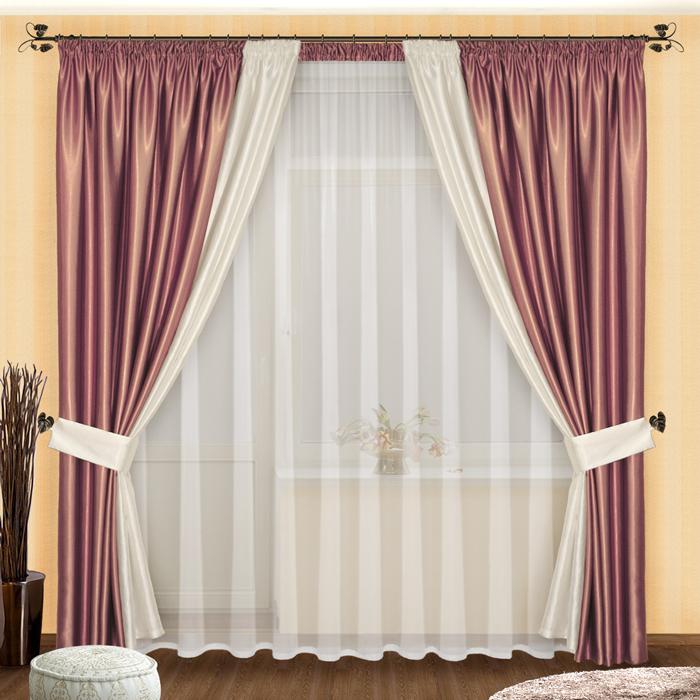 Шторы РеалТекс Классические шторы Amariah Цвет: Сиренево-Белый шторы реалтекс классические шторы alberta цвет персиковый молочный