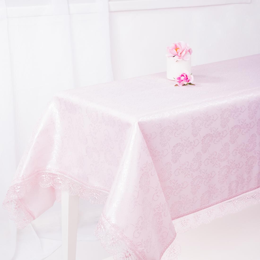 Скатерти и салфетки Eleganta Скатерть Darrel Цвет: Розовый (160х220 см) скатерти и салфетки karna скатерть leda цвет бордовый круглая 160 см